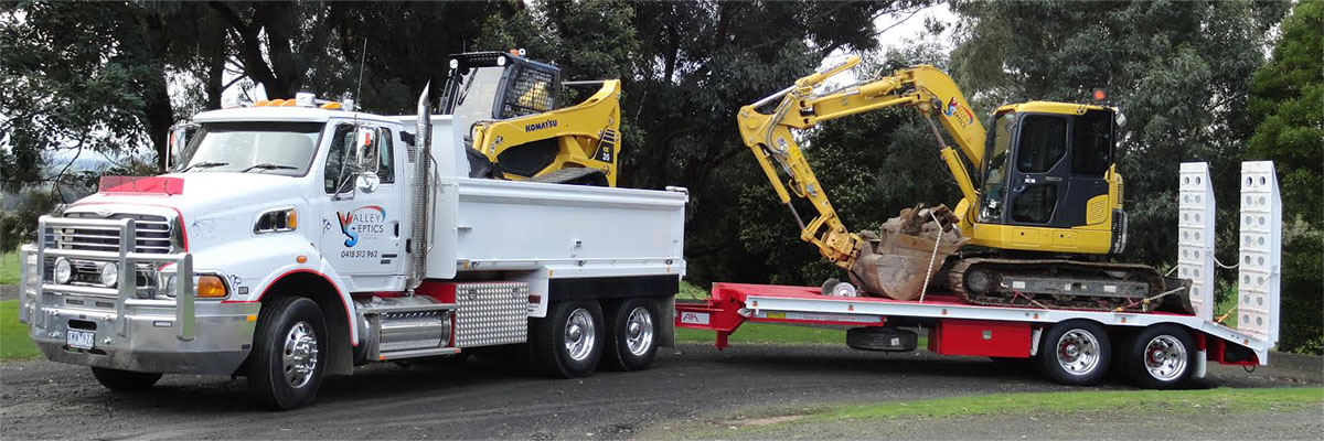 Equipment used for septic systems in Traralgon